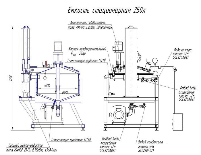 схема вакуумного реактора