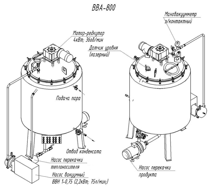 Схема вакуумного котла