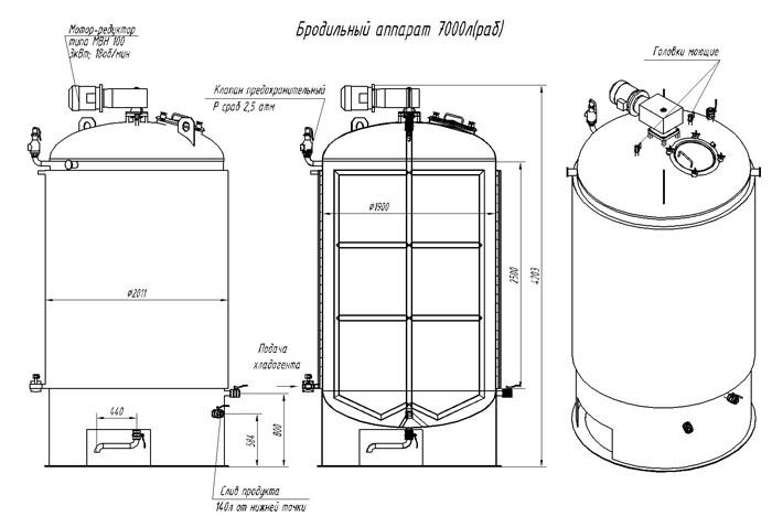 Схема бродильного аппарата